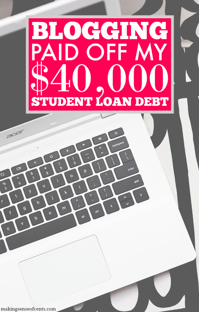 How Blogging Helped With Paying Off Student Loans