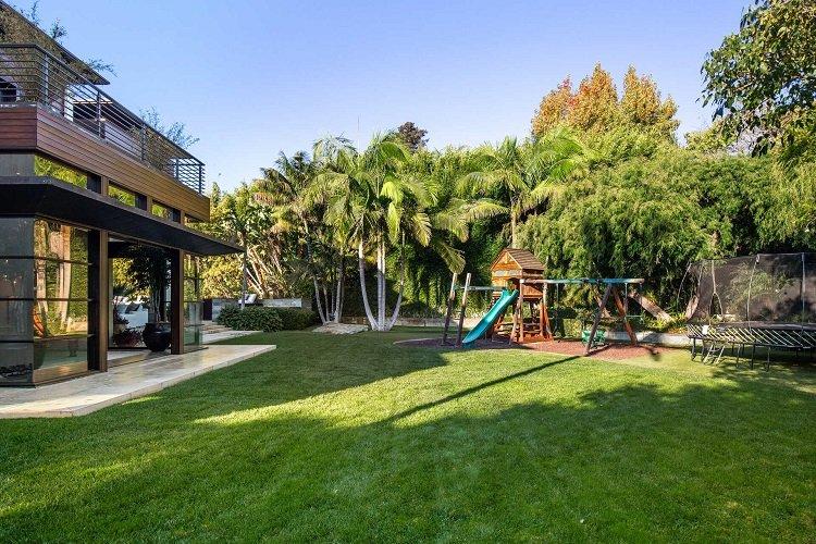 kids playground in matt damon's house